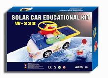 2016 Educational Toys Solar Car For Children Physics Science Toys Integrated Circuit Building Block Set Solar Shaking Toy(China (Mainland))
