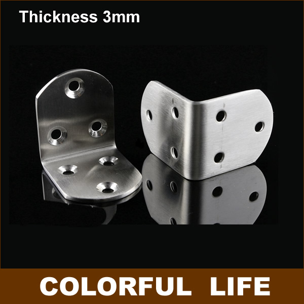 Stainless steel 50*50*38mm ,3mm thick,corner bracket,Angle iron Tables and chairs fixed fittings Connectors ,Furniture Hardware(China (Mainland))