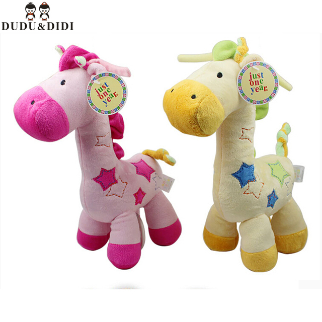 Детские плюшевые игрушки с колокол жираф детские игрушки мягкая игрушка детская кровать висит мягкая музыка игрушки
