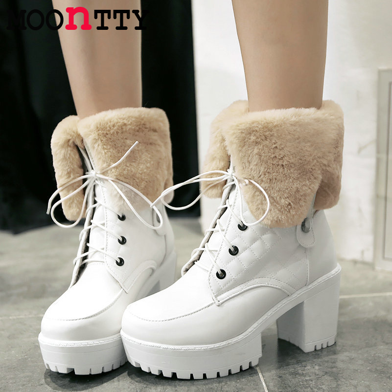 Model  Snow Boots Women Ankle Boot Flat Heels Winter Shoes Warm Snow Shoes