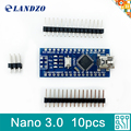10pcs Nano 3 0 controller compatible for arduino nano ATmega328 USB driver NO CABLE nano v3