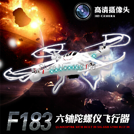 New Listing 4CH 2.4G RC Helicopter toy F183 Remote quadrocopter drones with 2.0MP camera boys toys outdoor rc Helicopter(China (Mainland))