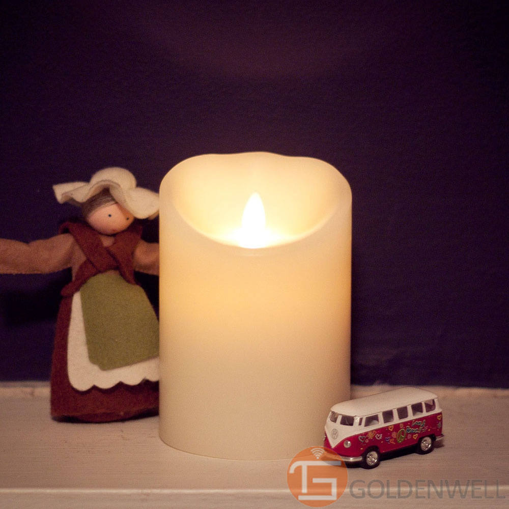 """3.5""""*5"""" Hot sell best price flameless led candle light with no fire(China (Mainland))"""