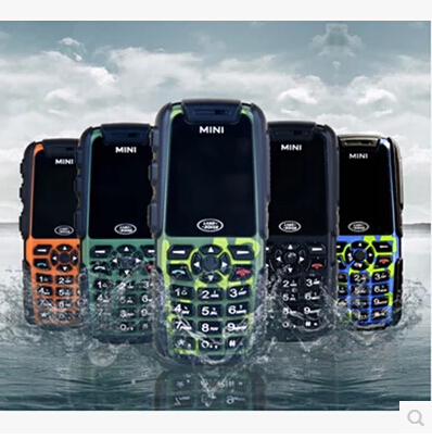 Original Waterproof Mini A8N Cell Phone 1.3 Inch Sreen GSM Quad Band Dustproof Shockproof Rugged Mobile Phone(China (Mainland))
