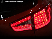super cool car styling  2 pic/lot Modified LED red  rear lights /taillight assembly special for KIA sportage R2011-2013 year(China (Mainland))