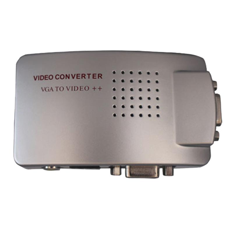Premium PC Laptop VGA to AV RCA TV Monitor S-video Signal Adapter Converter VGA2AV Switch Box(China (Mainland))