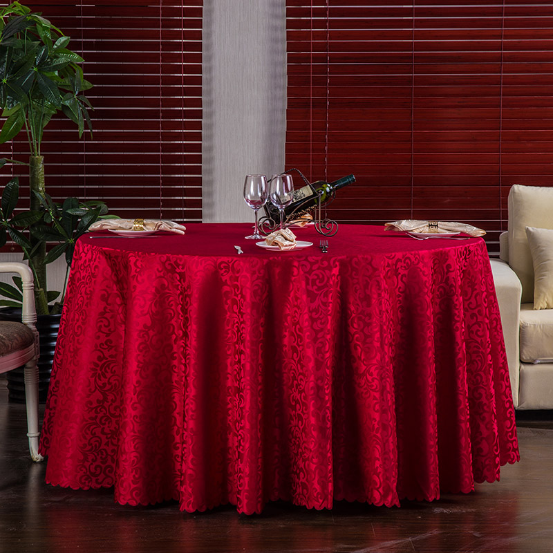 100% Polyester Red White Plain Table Linen Round Tablecloth For Dinning Table Cloth For Hotel Wedding Banquet Free Shipping(China (Mainland))