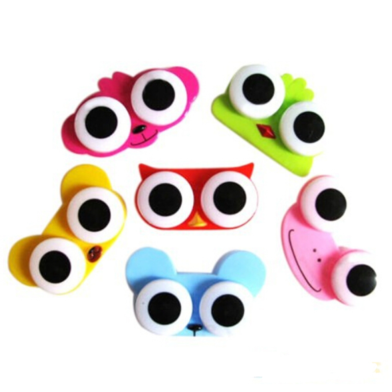 Fashion Lovely Cute Animal Design Travel Soak Storage Cleaning Contact Lens Box Case Home Supplies Random Color - Yiwu Ino E-Commerce Co., Ltd. store