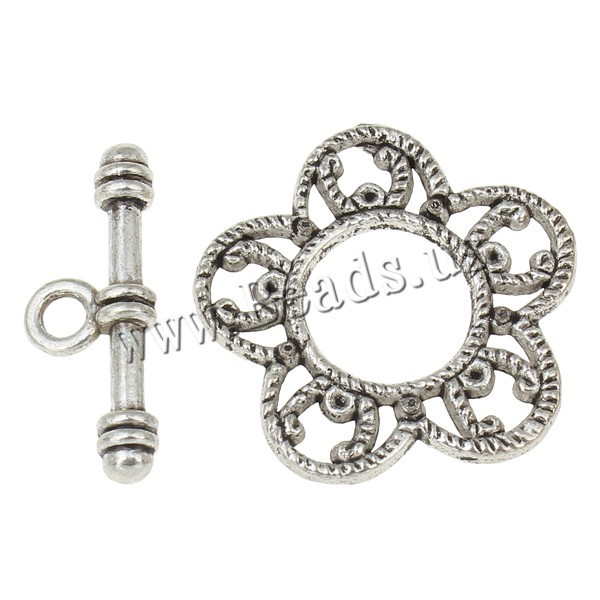 hot 20Sets Tibetan Silver Toggle Clasps Ring 25x2mm 24x9x4mm