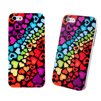 IMD Lover Heart Printing Luxury Cases Cover For IPhone 5 5S 5G Colorful Hard Plastic Protection Case For iPhone 5 5S 5G Cases