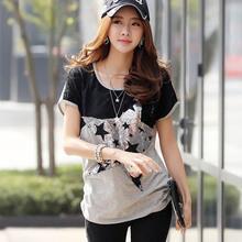 Free Shipping Women Bat Sleeve T Shirt Plus Size S-5XL Women Ladies Sexy Club Tops Summer Short Sleeve T-shirt Tee(China (Mainland))