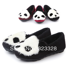 Girls Sneakers 2014 Spring autumn Children Panda muscle kids Flock outsole foot wrapping shoes size 21-36 princess single shoes(China (Mainland))