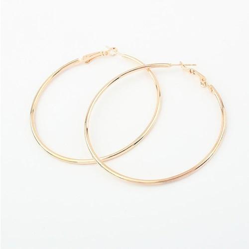 2015 NEW Stylish Nickel Free 18K Gold Hoop Earrings Loop Earrings Celebrity Brand Earrings Women Magi Jewelry!E287(China (Mainland))