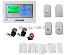 Free DHL LCD screen GSM alarm system home security GSM alarm system Quad-band GSM alarm panel