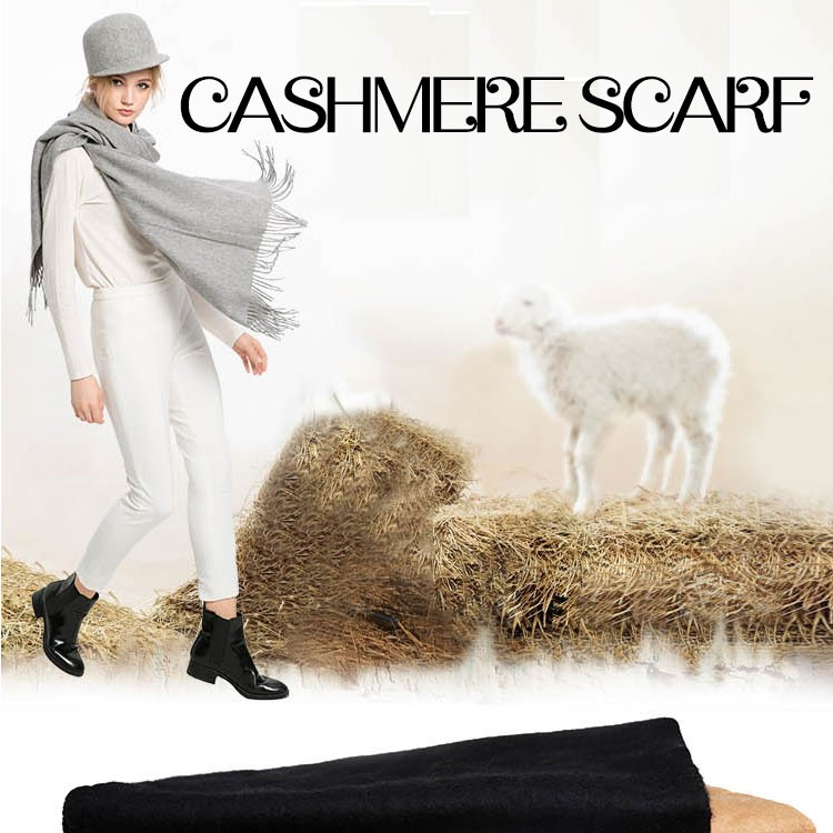 in fall and winter Outdoor to keep warm ,solid color long cashmere tassels scarf & Pashmina,Girl & Lady   &Women's