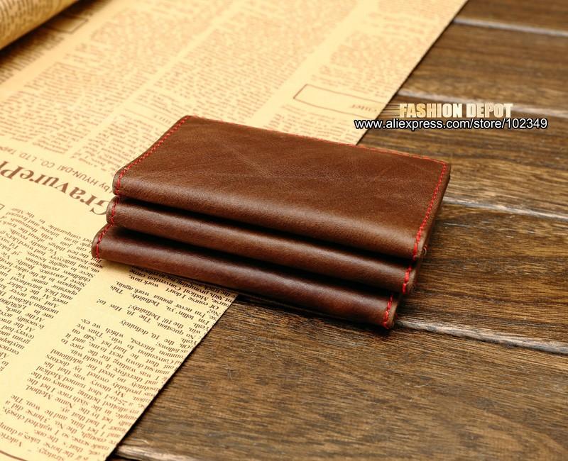 Genuine Leather Driver license Holder Real Leather License Bag wallet Vertical (4)