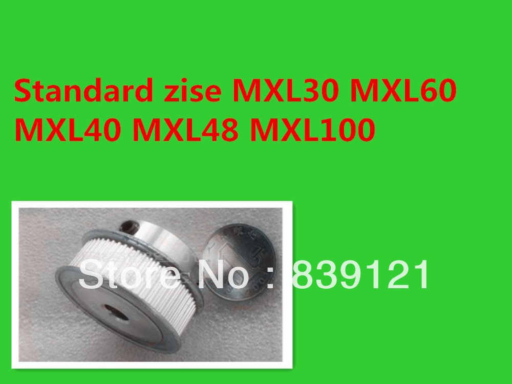 cnc Timing pulley MXL60 ID 8MM Stocked offer drawing can
