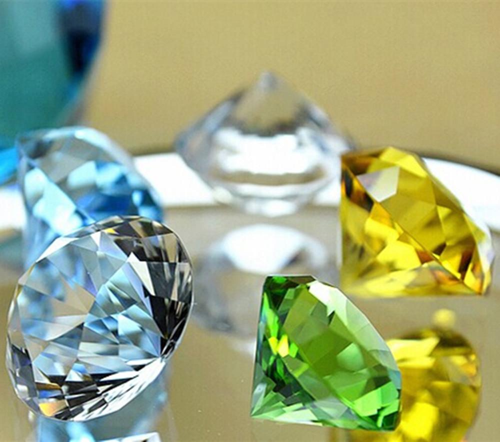 diamond gloss text paper weights