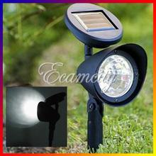 High Quality  3 LED Solar Powered Spotlight Outdoor Garden Landscape Lawn Yard Path Spot decor Light Lamp Auto On(China (Mainland))