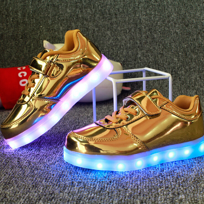 Spring Chaussure lumineuse enfant USB charge shoes Kids lighted shoes LED Boys girls sport shoes Children light fashion sneakers