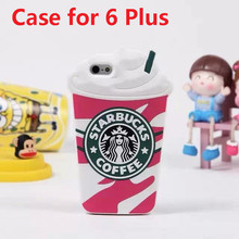 Hot Sale 3D Cartoon Silicon Starbuck Coffee Cup Case Cover foriPhone 5 5s 6 Plus Mobile Phones case for samsung s3/4/5 note 3/4(China (Mainland))