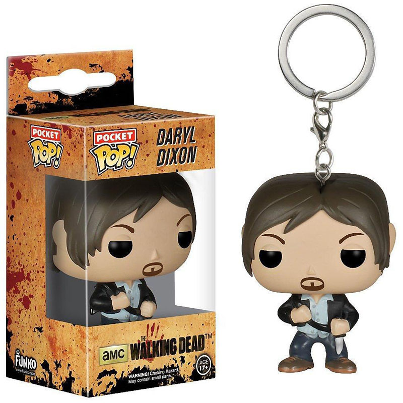FUNKO Pocket POP Keychain Walking Dead Daryl Dixon Key Ring Mini Figure Model Keyring Toys gifts for kids(China (Mainland))