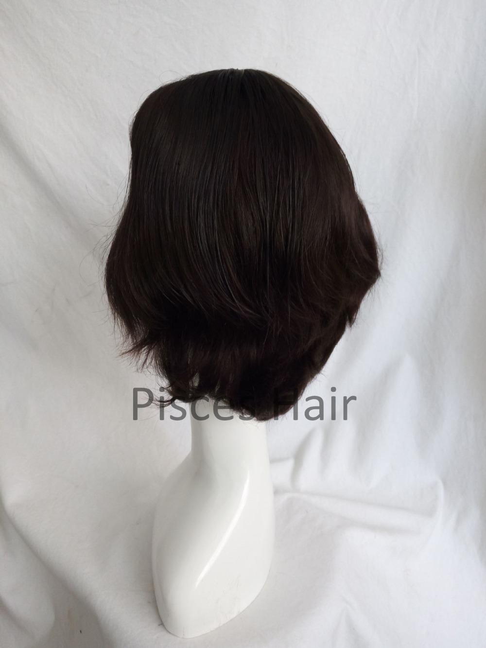 European Hair dark brown wig Kosher Shaitel Sheitel wigs Caucasian wig  Small layer<br><br>Aliexpress
