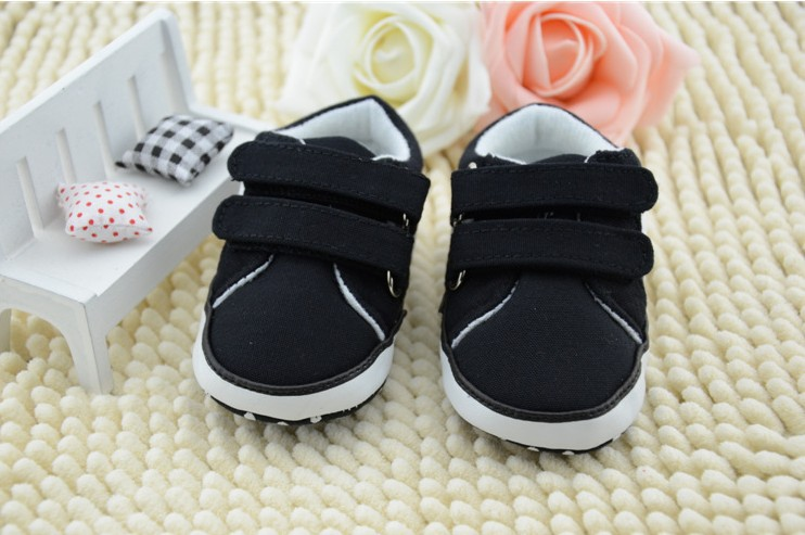 2014 New baby toddler shoes infant shoes black polo baby shoes soft bottom antiskid baby first walker shoes 3pair/lot