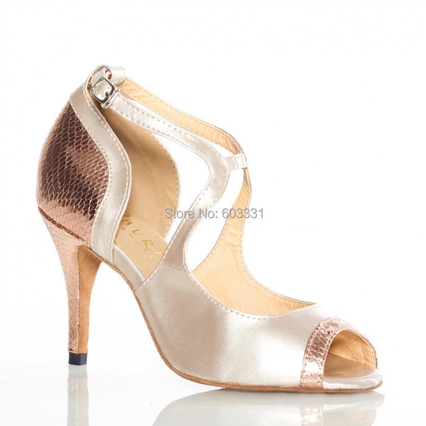 Adult Ladies Women's Tango Rumba Samba Ballroom Latin Salsa Dance Heeled Shoes 8.5cm 7.5cm High Heels US 5-9 - dance dress store