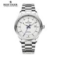 Reef Tiger RT Business Men Top Grade Luxury Dress Watch Swiss Automatic Movement Mens 316L Solid
