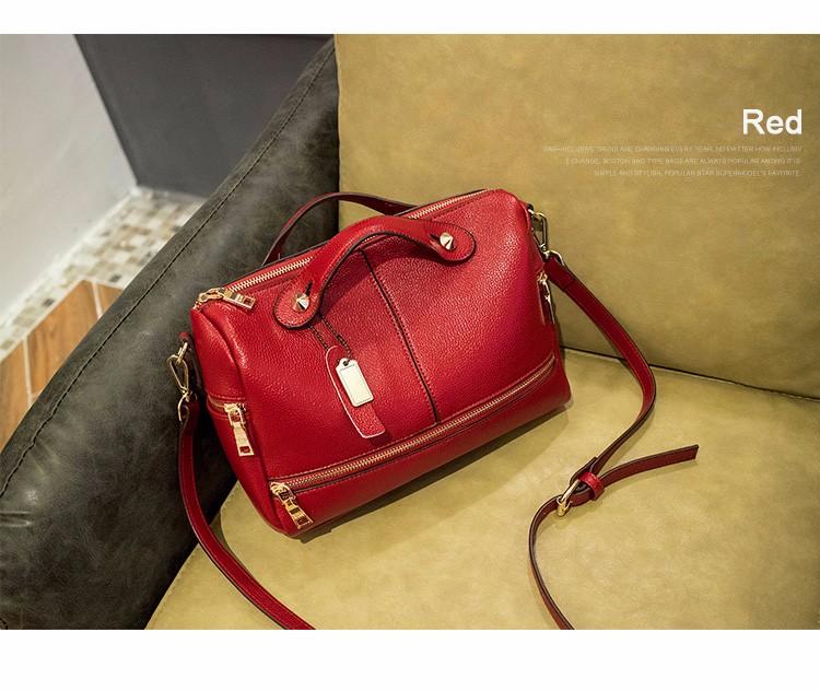 Designer Retro Boston Bag Lady 2016 New Chic Pillow-shaped PU Handbag Luxury Fashion Large Bag Women Elegant Soft Shoulder Bag