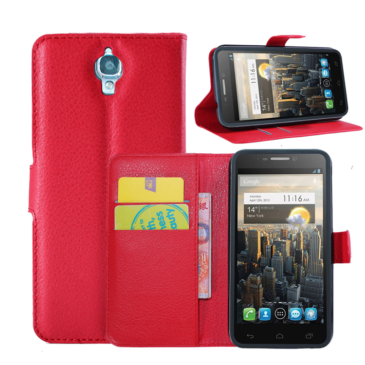 Alcatel One Touch Idol 6030 OT6030 6030X 6030A Litchi Pattern Wallet Magnetic Flip Stand leather case Protective Cover - Shen Zhen Kingma Electronic Co., Ltd store