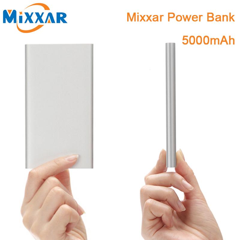 ZK90 Original Mixxar Power Bank 5000mAh Ultra Slim Powerbank External Battery Charger For iPhone 4 4s 5 5s 6 6s iPad(China (Mainland))