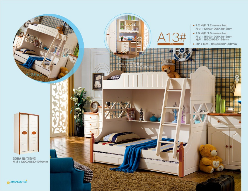 2016 Basketball Shoes Limited Promotion Wood Childrens Bunk Beds With Stairs Kindergarten Furniture Beliche Kids Bedroom Sets(China (Mainland))