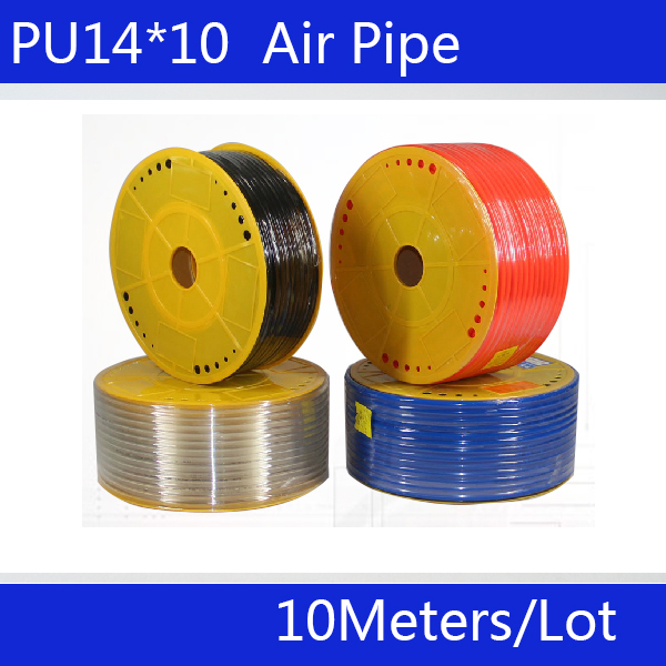 Free shipping PU Pipe 14*10mm for air & water 10M/lot Pneumatic parts pneumatic hose ID 10mm OD 14mm(China (Mainland))