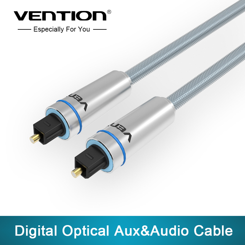 VENTION Toslink Cable High Quality 1m/1.5m/2m/3m blue Digital Optical Audio Cable male-male Optical Cable(China (Mainland))