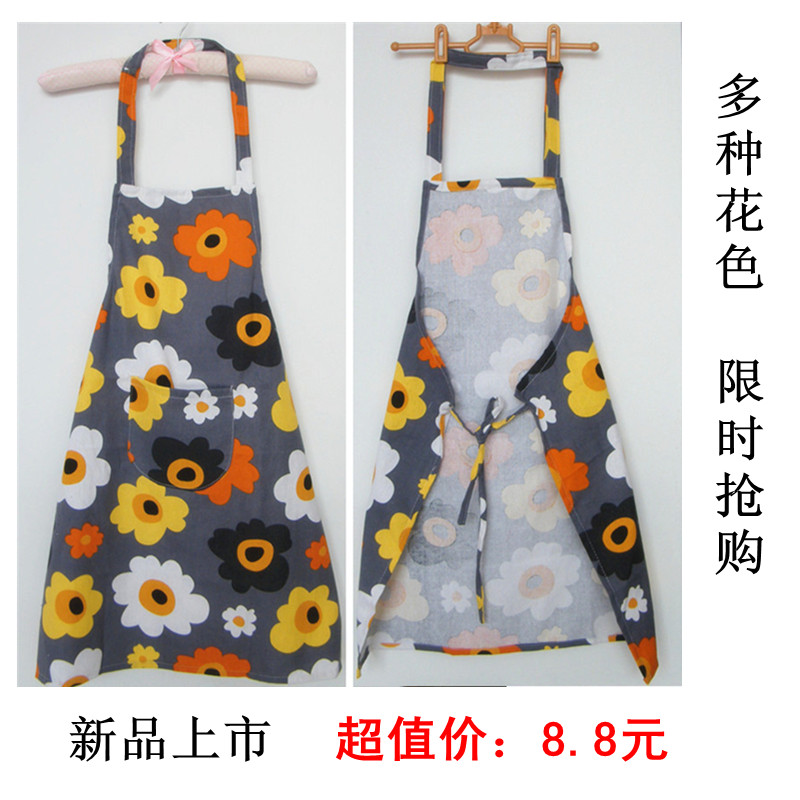 Cook kitchen cooking funny apron logo novelty Aprons with pockets Rustic cartoon fabric canvas apron kitchen apron general(China (Mainland))