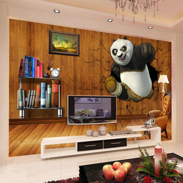 Free Shipping Europe and United States children's room world's large animal wallpaper mural(China (Mainland))