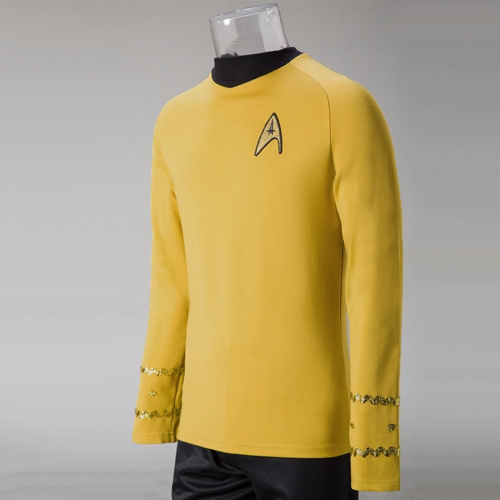 Cosplay Star Trek TOS The Original Series Kirk Shirt Uniform Costume Halloween Yellow Costume (2)
