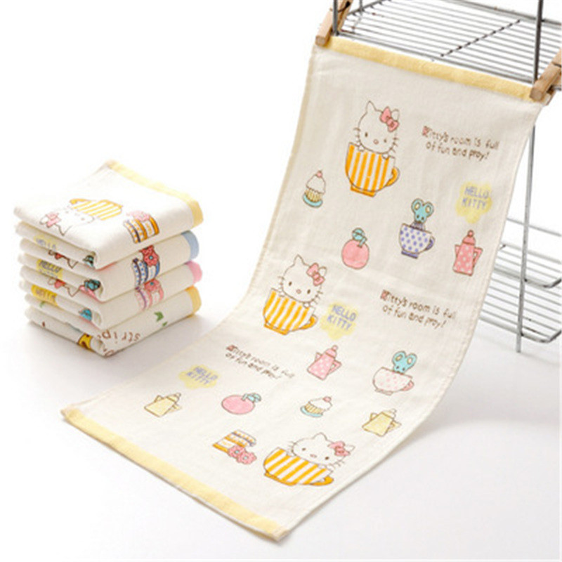 HELLO KITTY Face towel Soft Cotton Skin-friendly material fast Absorbent For hair Face Hand Towel High quality EA(China (Mainland))