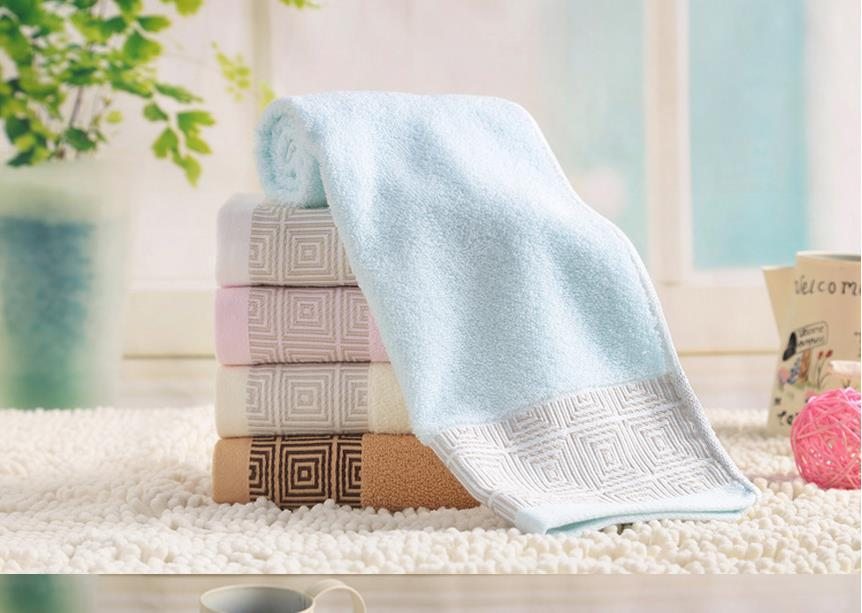 Wholesale cotton face towel water absorbing large cloth Pure cotton towel hairdressing plain creative couples face towel(China (Mainland))