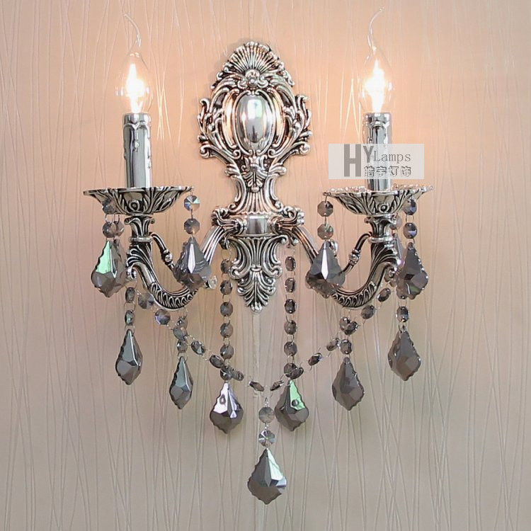 European stud crystal wall lamp modern minimalist living Contemporary wall sconces for living room