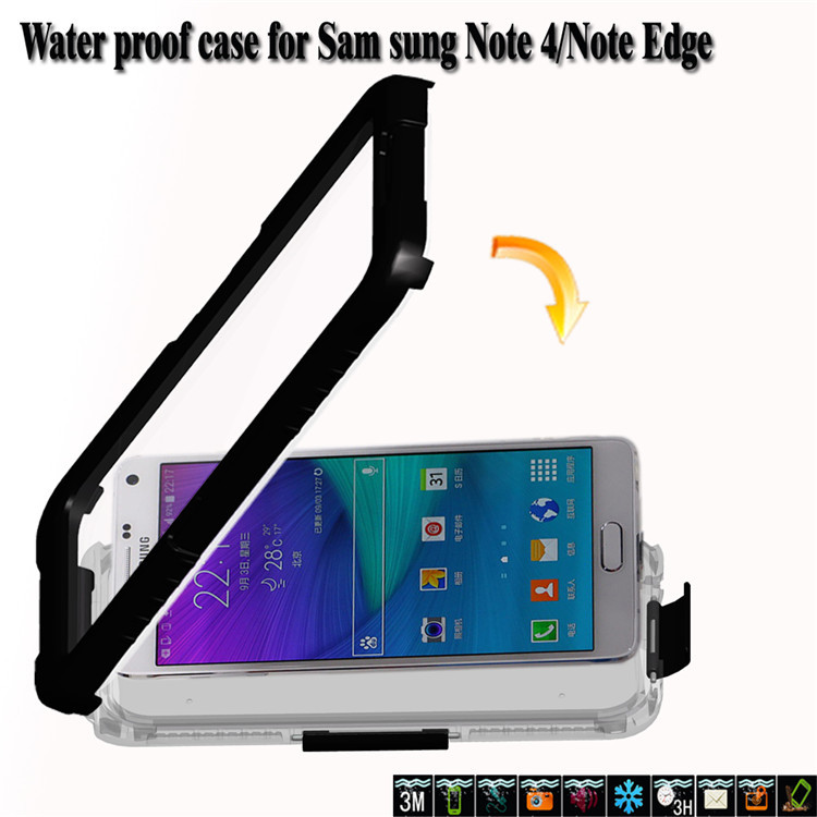 Cell Phone Waterproof case mobile phoone water Cover For Samsung Note 4(China (Mainland))