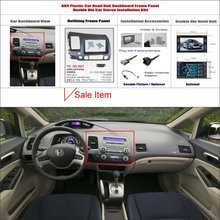 2 DIN ABS Plastic Frame Panel HONDA Civic 2008-2011 Aftermarket Radio Stereo DVD Player GPS Navigation Installation - ACP Store store