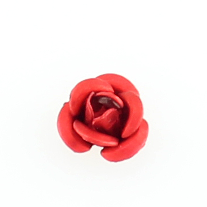 Hot selling red rose floating charms living glass floating memory locket charms wholesale