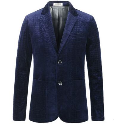 Blue Velvet Blazer Print  Plus Size S-3XL Men Blazer Designs Royal Blue Coffee Brand Luxury Blazer Blazer MasculinoBlue VelvetОдежда и ак�е��уары<br><br><br>Aliexpress