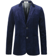 Blue Velvet Blazer Print Plus Size S-3XL Men Blazer Designs Royal Blue Coffee Brand Luxury Blazer Blazer MasculinoBlue Velvet(China (Mainland))