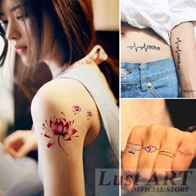 15 PCS Temporary Tattoos lucky tattoo flesh tattoo school temporary tattoos WW001(China (Mainland))