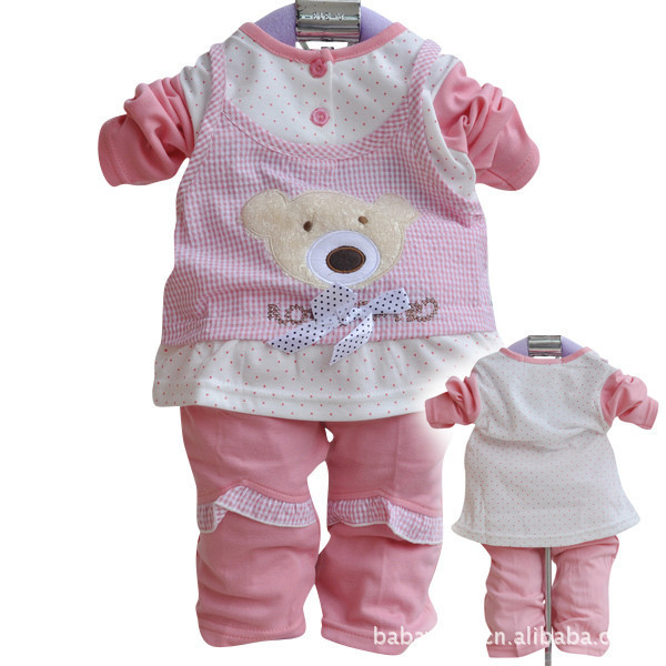2015 Spring Clothes For Baby Girl New Born Baby Clothes Top+Pants Infant Girl Set Roupa Infantil Products For Babies(China (Mainland))