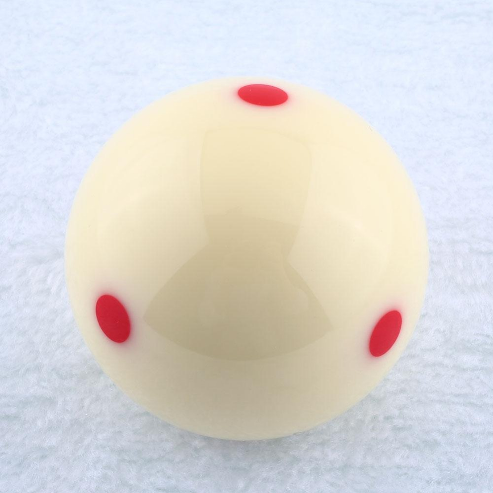 """Hot Sale 57.2mm Red Dots Billiard Snooker Table Training Spot Cue Ball 2 Diameter 1/4""""(China (Mainland))"""